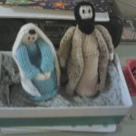 Figures of Mary and Joseph from our Posada