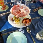 Some of the food at the Italian Evening