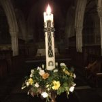 A lit candle for All Souls Day